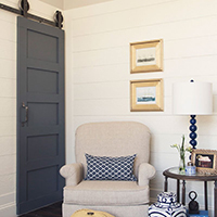 For an old style door with a contemporary twist, the 5 Panel Barn Door is the way to go.