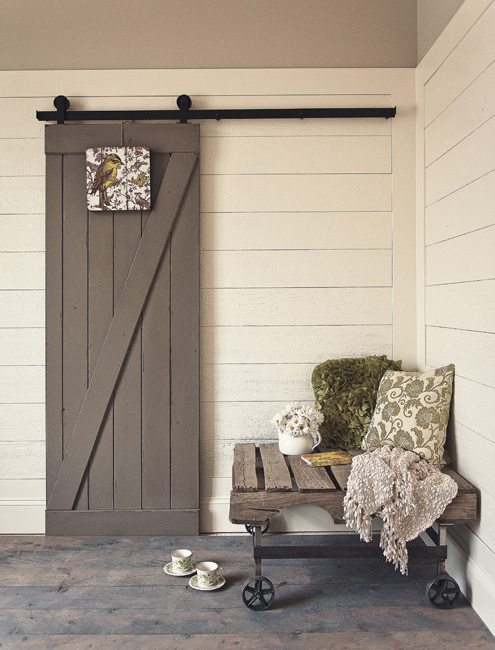 The Z-Barn door combines the rustic and vintage with a transitional contemporary to add style to any home.