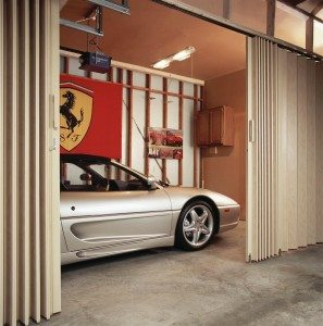 Accordion folding doors are a great way to separate a large space into smaller functional areas
