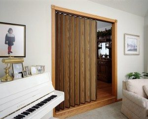 Accordion doors are a great way to save space vs traditional doors