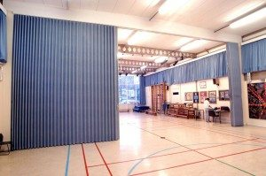 Accordion Doors are perfect for use in Sports Arenas and Stadiums